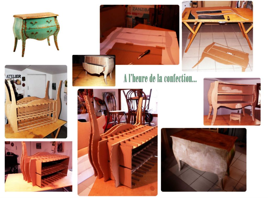 Les plus beaux meubles en carton for Construire meuble en carton