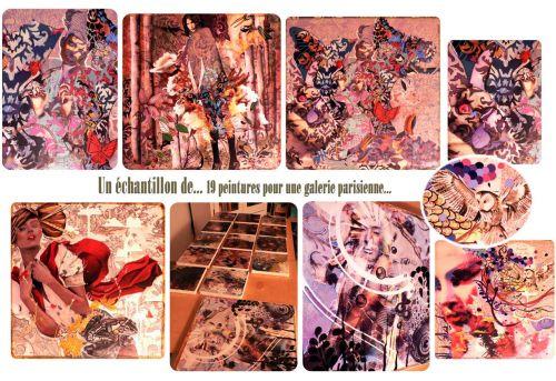 19 peintures,inspiration,illustrations,motifs décoratifs, galerie parisienne
